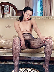 Tracey Anne strips from stockings to nude and is hot
