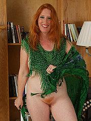 Mature Redhead With A Full Bush