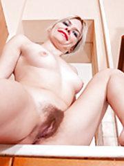 Greta Grace strips naked wearing camouflage