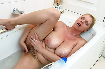 Teya takes a bath