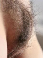 Amateur brunette with a puffy bush