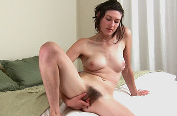 May likes to play with her glass dildo