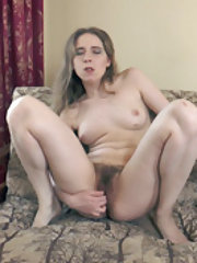 Isabel Stern strips and masturbates on her chair