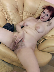 Red Bunny finds her favorite chair and masturbates