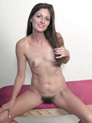 Vanessa Bush masturbates on her pink bench