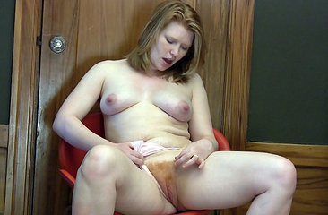 Madison Young touches her red hairy bush