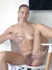 Kristina Bud strips naked after finishing her work