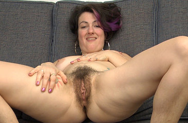 Sexy Sadie Lune Strips in purple lingerie