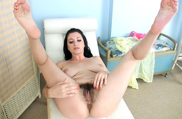 Brook Scott spreads her hairy pussy just for you
