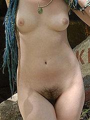 The amazing blue haired goddess.