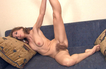 Dancing Darina couch strip tease