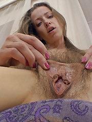 Ryisya strips naked and masturbates