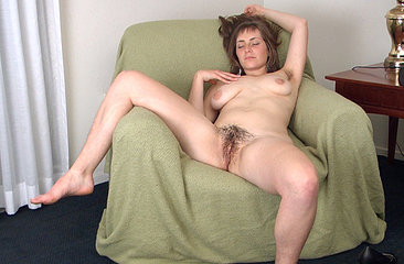 Following her hairy girl interview, new hairy girl Tanya decides to prove right then and there how hairy she is by stripping down and showing off her wet hairy pussy.