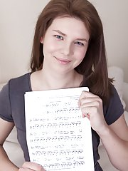Kristina Amanda gets naked with music notes