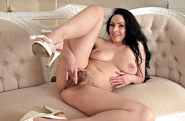 Sexy hair woman Sophia Delane likes to tease