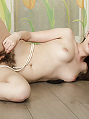 Lima shows off hairy body with her sexy pearls