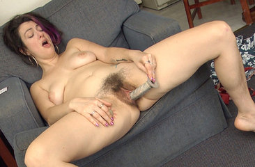Sadie Lune indulges and gets her hairy pussy off