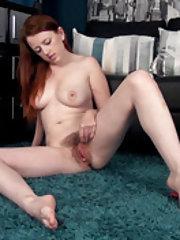 Jenny Smith masturbates after taking off dress