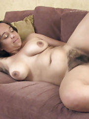 Francesca Z enjoys sexy fun on her couch