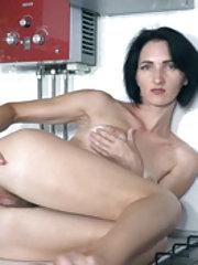 Aglaya enjoys masturbating in her kitchen