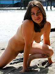 Hairy Pussy Latina Amateur At Beach