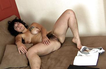 Valerie takes a study break in hairy porn