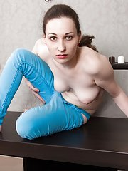 Dressed in blue makes Delta Freya horny