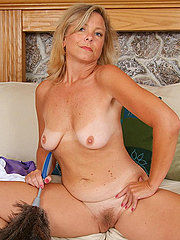 Beautiful Bushy Blonde Housewife