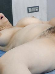 Marsela enjoys masturbating in bed