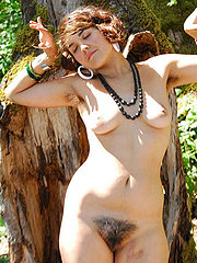 All-Natural and Hairy Hippie Chick