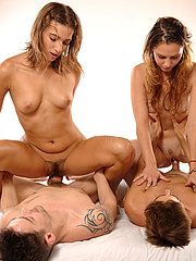 Two French Girls Get Fucked Hard