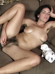 Katie Z masturbates while on her couch