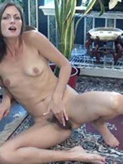 Vanessa Bush enjoys masturbating by her plants